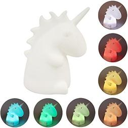 Remote Control Unicorn Silicone Night Light Rechargeable Cut