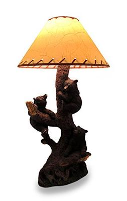 Resin Table Lamps Three Playful Bear Cubs Climbing A Tree De