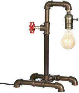 Steampunk Industrial Reading Table Lamp with Switch Water Pi