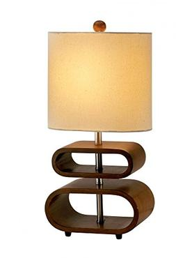 Rhythm Table Lamp in Walnut Model-3202-15