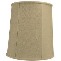 12x14x15 Sand Linen Drum Lampshade with Beige Liner with Bra