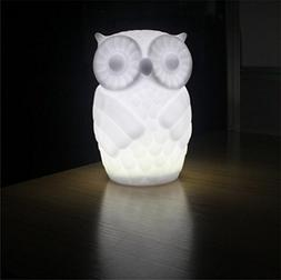 Suzzo Serenity Owl Night Light Lamp With Timer Battery Power