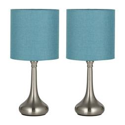 set of 2 bedside table lamps modern