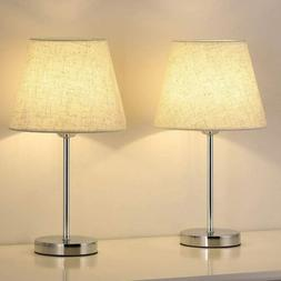 Set of 2 Small Table Lamp Bedside Desk Lamp Nightstand Lamp