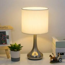 Small Bedside Table Lamp Desk Nightstand Lamp Metal Base Bed