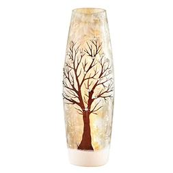Collections Etc Sparkling Tree Table Lamp in Frosted Finish,