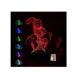 Spider-Man Night Light for Kids Birthday Gift 3D Illusion La