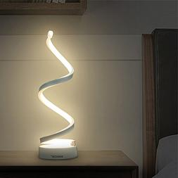 Makion Spiral LED Table Lamp, Curved LED Desk Lamp, Contempo