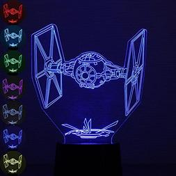 Aolvo Star Wars Night Light, 3D Optical Illusion TIE Fighter