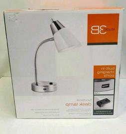 Studio 3B Functional Desk Lamp With USB & OUTLET Port - Brus