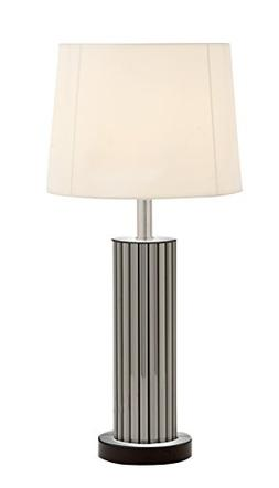 Plutus Brands Attractive Styled Wood Mirror Table Lamp