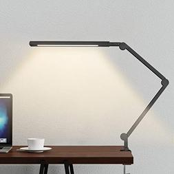 Swing Arm Lamp, LED Desk Lamp with Clamp, 9W Eye-Care Dimmab