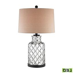 Dimond Lighting LED Table Lamp in Chrome Plating and Black