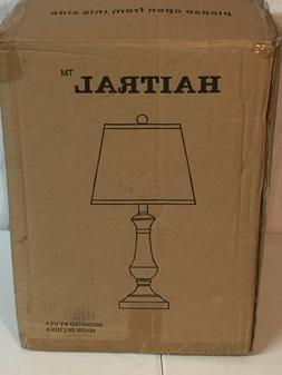 Haitral Table Lamp Metal Contemporary Beside Desk lamps with