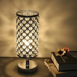 Tomshine Table Lamp Modern Nightstand Lights for Bedroom Cry