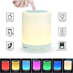 Senmil Table Lamp Night Light Bluetooth Speakers Portable Wi
