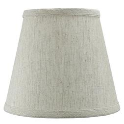 Textured Oatmeal Hard Back Lampshade with clip-on fitter By