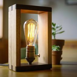 the alto lamp solid wood dimmable shadow