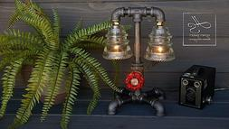 the fireman industrial pipe desk table steampunk