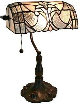 Amora Lighting Tiffany Style AM250TL10 Floral Banker Tiffany