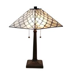 """Amora Lighting Tiffany Style Stained Glass Desk Lamp 14"""" AM0"""