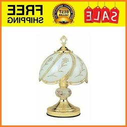 """23.5"""" Touch Lamp - Floral - White"""