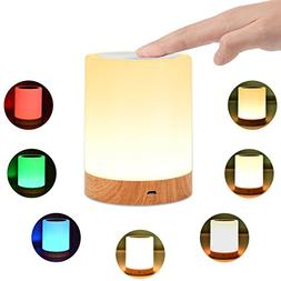 KMASHI Night Light, Bedside Table Lamps for Bedrooms, LED Re