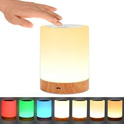 Comkes Touch Lamp, Bedside Table Lamp for Bedrooms Living Ro