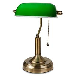 TORCHSTAR Traditional Banker's Lamp, Antique Style Emerald