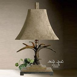 Unique Lamp Ivory Scratched Silver Brushed Palomino Suede La