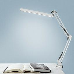 US LED Long Swing Arm Desk Lamp W Clamp Metal Architect Adju