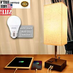 usb bedside table and desk lamp