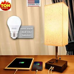 usb bedside table lamp minimalist bedside desk
