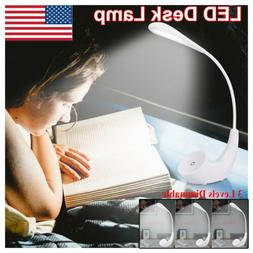 USB Dimmable LED Desk Lamp Book Reading Bedside Warm White L