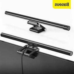 Baseus LED Desk Lamp USB Computer Monitor Screen Clamping Li