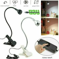 USB Reading Light Flexible LED Lamp Laptop Computer Clip On
