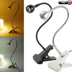 USB Rechargeable Table Reading Book Lamp Clip-On LED Desk Li