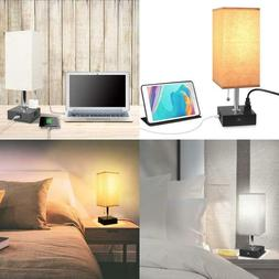 Usb Table Desk Lamp With Outlet, Usb Fast Charging Port Beds