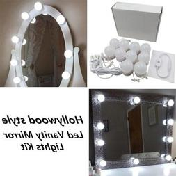 New Version Hollywood Style LED Vanity Mirror Lights Kit wit