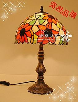12-Inch Warm And Elegant Sunflower Tiffany Table Lamp Bedroo