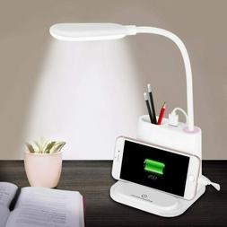 LED Desk Lamp Touch Dimmable USB Rechargeable Adjustment Kid
