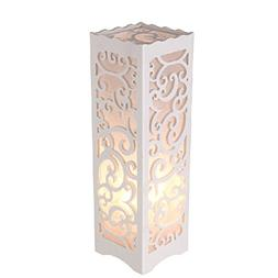 Dailyart White Table Lamp with Vine Shaped Cutout, Soft Glow