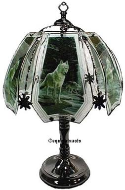 Wolves Touch Lamp with Pewter Base