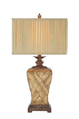 Catalina 19083-000 3-Way 32-Inch Wrapped Leaf Table Lamp and