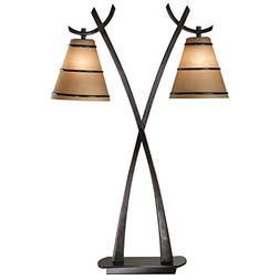 Wright 2 Light Table Lamp in Oil Rubbed Bronze