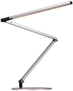Gen 3 Z-Bar Daylight LED Silver Desk Lamp with Touch Dimmer